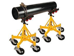 Cavalete para apoio e movimentação de grandes tubulações